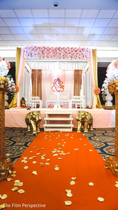 Indian wedding decor ideas for the ceremony.