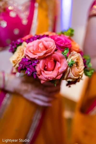 Indian wedding roses bouquet.