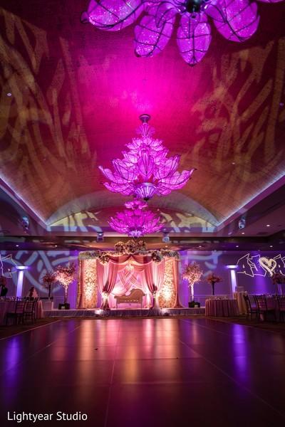 Indian wedding reception brown dancefloor capture.