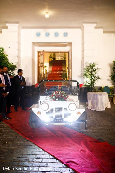 Car used during Hindu wedding.