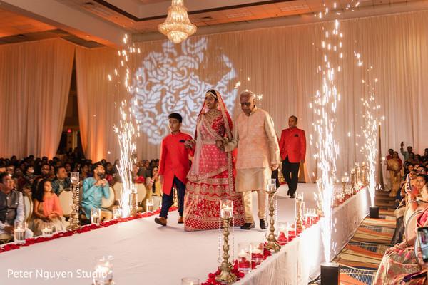 Indian relatives walking Maharani down the aisle