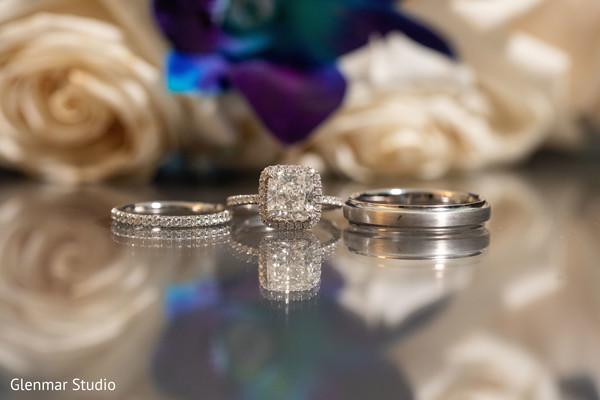 Indian wedding rings on display.