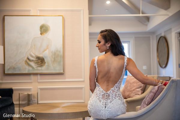 Stunning Maharani modeling her gown design.