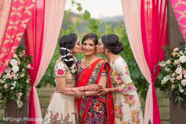 Indian bridal sweet moment capture.