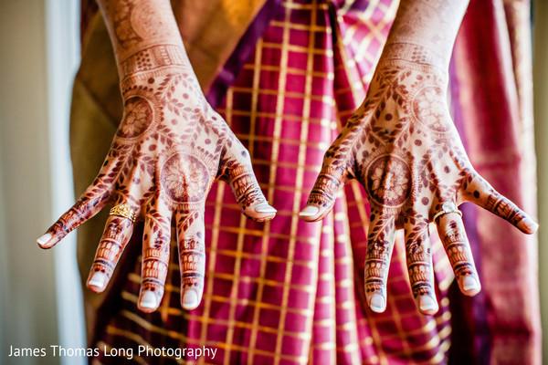 Indian bride's mehndi design.