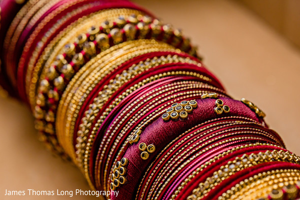 Indian bride's jewelry details.