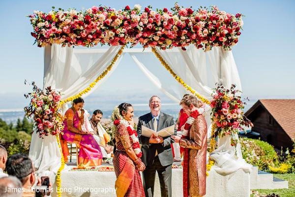 Maharani and Indian groom under the mandap.