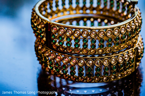 Indian bridal gold with stones bangles.