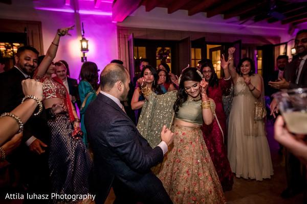 Maharani and Raja dancing during the reception.