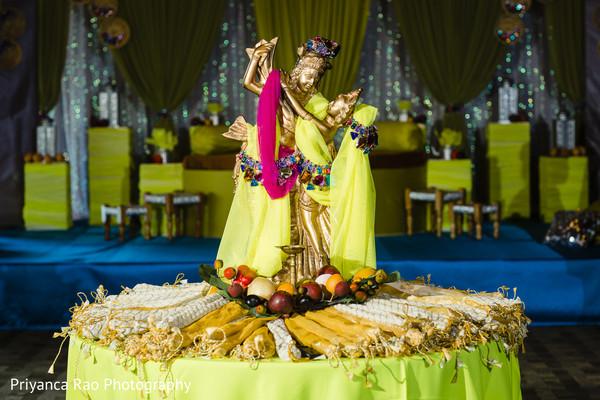 Details of the pre-wedding ceremonies decor.
