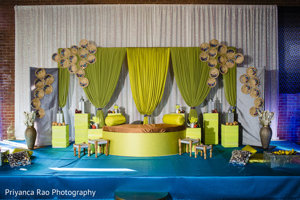Indian wedding's Sangeet decor ideas.