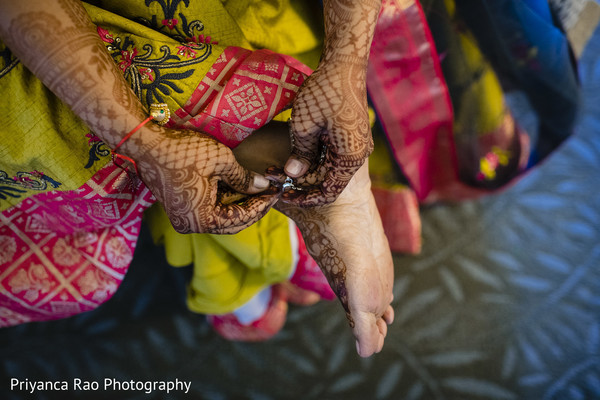 Indian bride's henna art details.
