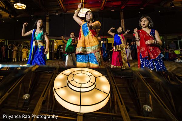 Guests performing a choreography during Sangeet.