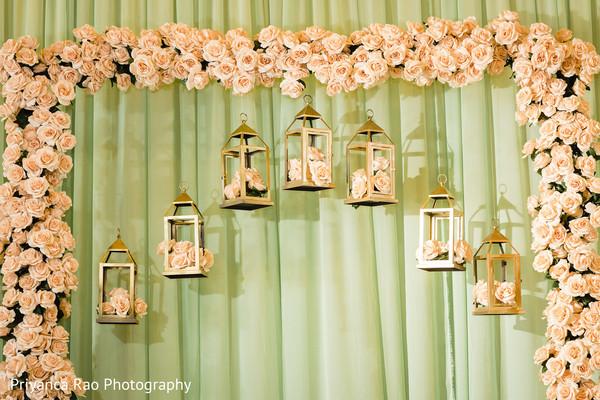 Indian wedding floral arrangement designs.