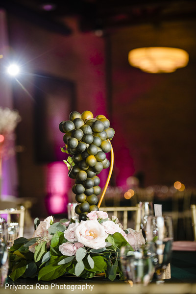 Table center piece decor details.