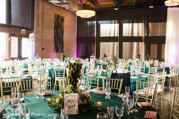 Table setup design for the Indian wedding gala.