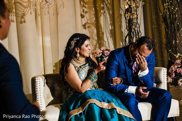 Maharani and Raja reacting to speeches.