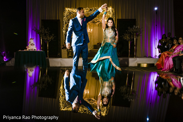 Dance floor design for the Indian wedding reception.