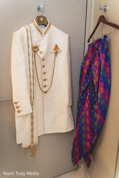 The clothes to be worn by the Indian groom