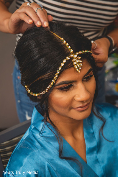 Maharani during the hair and make up session