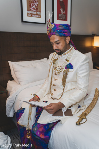 Indian groom ready for the wedding ceremony
