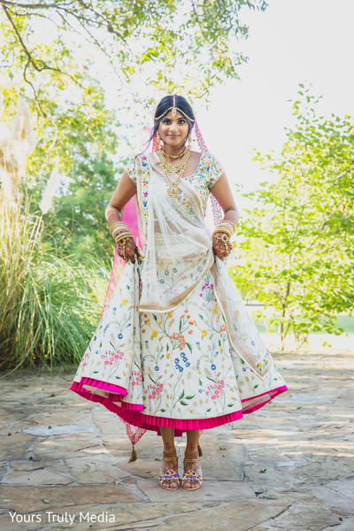 Maharani showing off her wedding outfit