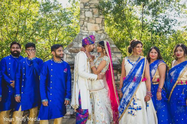 Indian groom gazing into his Maharani's eyes