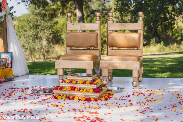 A close up to the stage ready for the ceremony