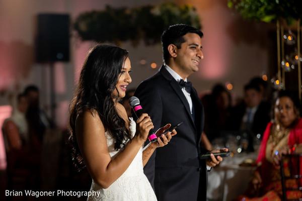 Indian wedding reception speech.