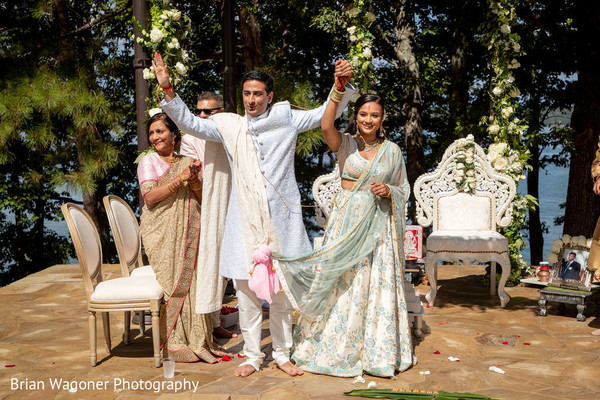 Just married Indian couple capture.