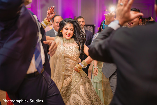 Maharani on the dance floor wearing the saree.