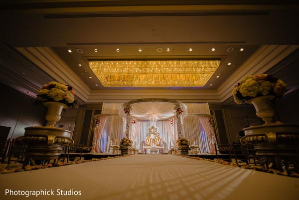 Indian wedding's stage decor details