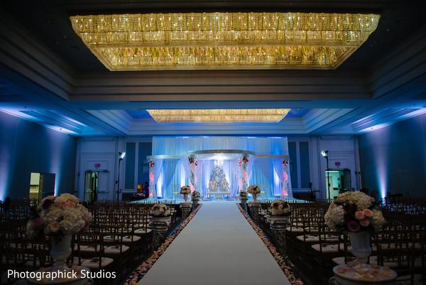 Indian wedding stage decor design.