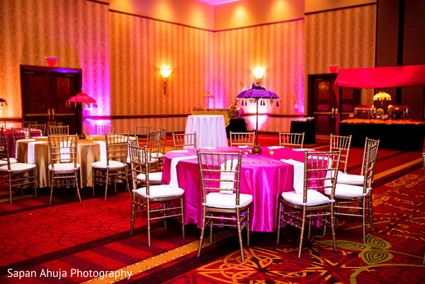 Tables decorates for reception.