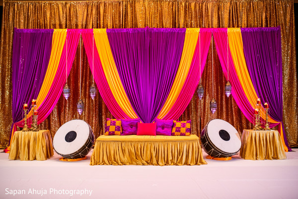 Decorations and drapes for photo session.