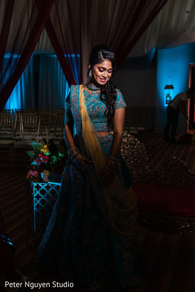 Indian bridal pre-wedding photo session.