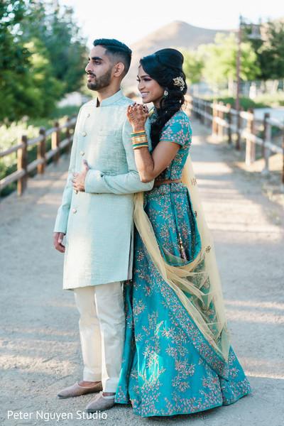 Maharani and rahaj outdoors pre-wedding photo session.