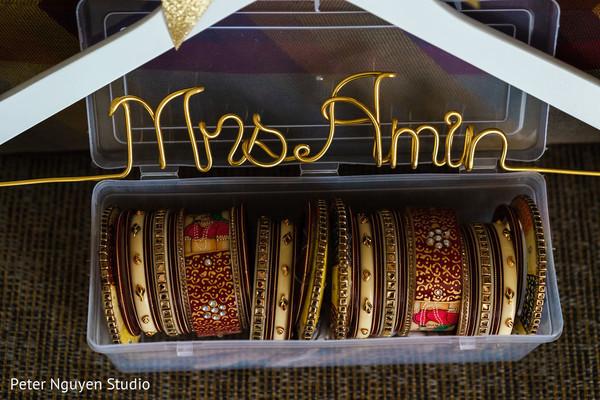 Indian bridal red golden and bone color ceremony chooras.