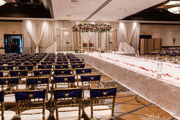 Hindu wedding ceremony indoor venue.
