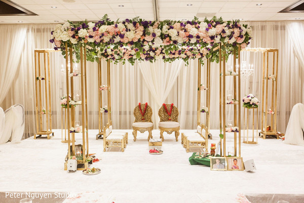 Indian wedding floral mandap design.