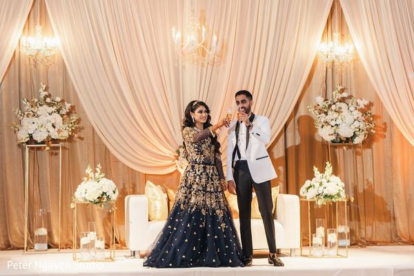 Indian newlywed's toast.