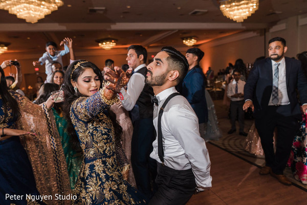 Indian couple having fun at the dance floor.