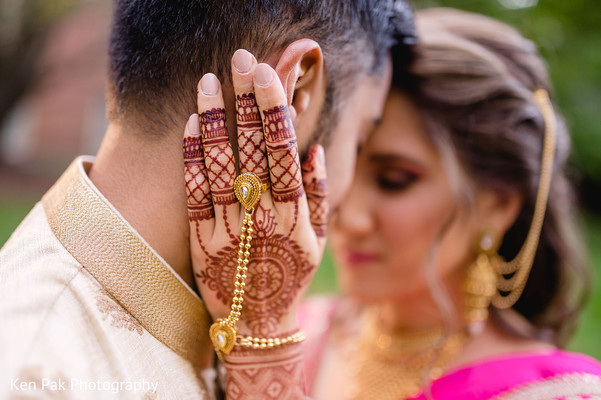 Indian couple showing affection