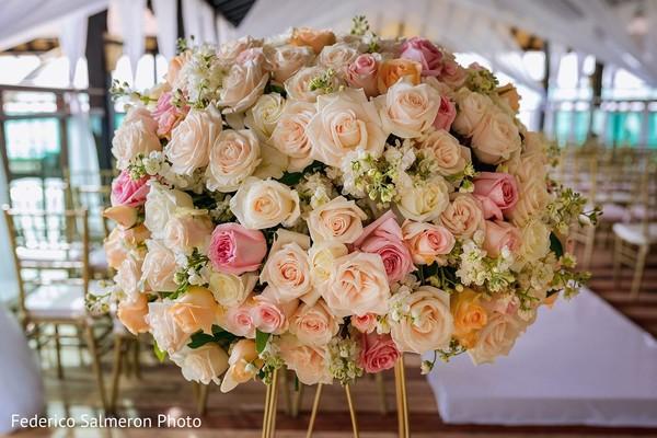 Pink and blush floral arrangement.