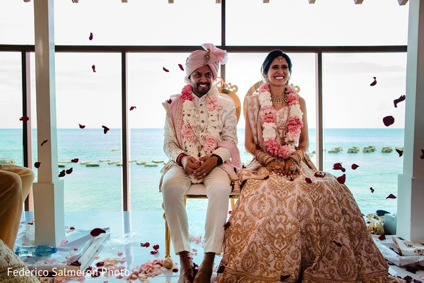 Incredible Indian couple at wedding ceremony capture.