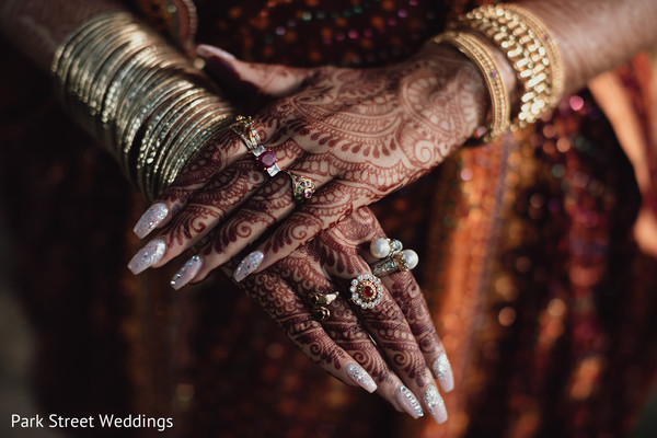 Maharani's henna stained hands