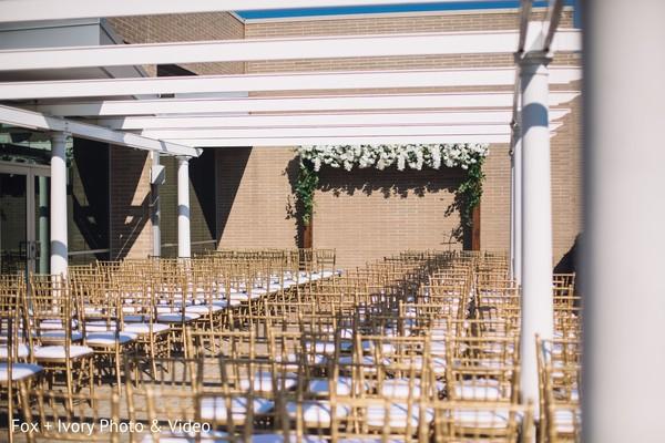 Indian wedding venue decor details.