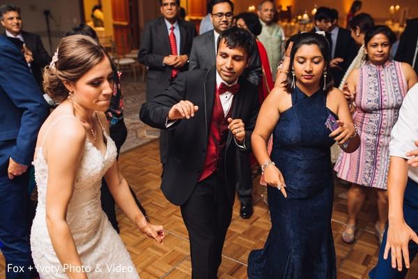 Maharani and Raja having a great time dancing.