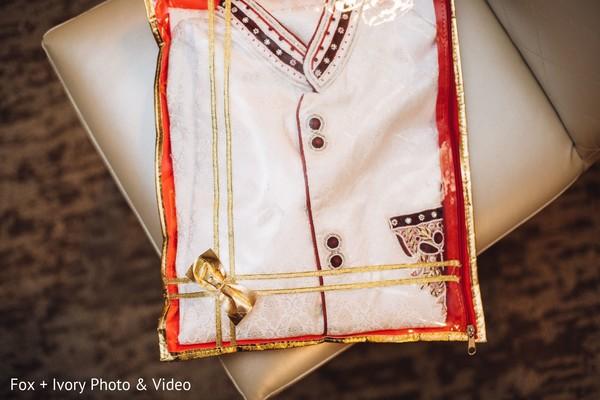Indian groom's sherwani style.