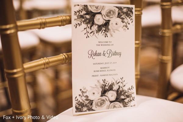 Indian wedding invitation design.